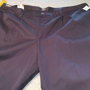 Big & Tall Navy Blue Khaki Pants Size 56 X 30 NWT
